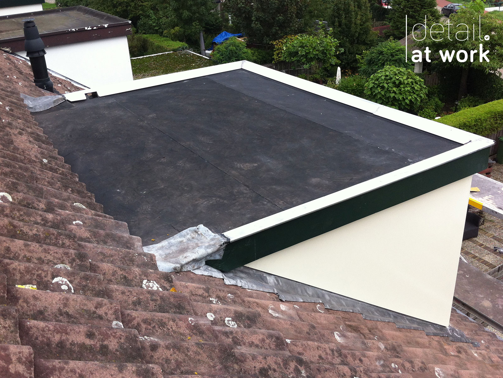 EPDM dak zijwangen lood